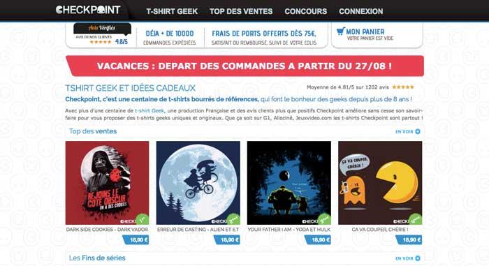 Checkpoint siteweb tshirts eole-paris