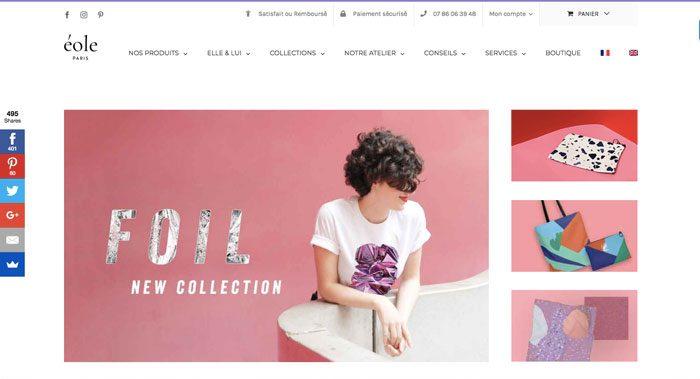 EOLE Paris - Le meilleur site web de t-shirts originaux