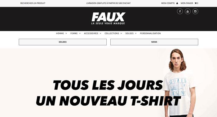 faux - site web tshirt - eole paris