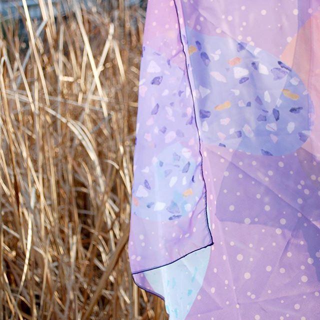 Foulard Terrazzo Ultra Violet - EOLE PARIS