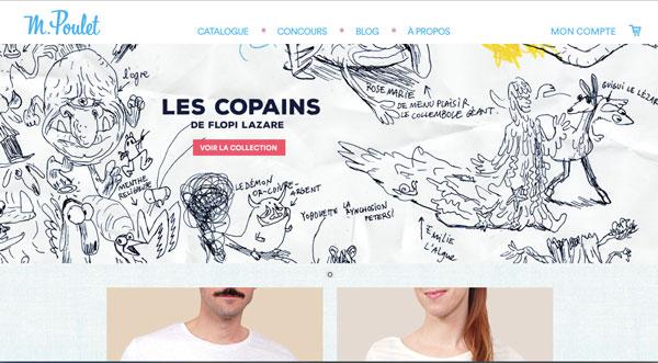 Monsieur Poulet - Tshirts originaux - EOLE PARIS