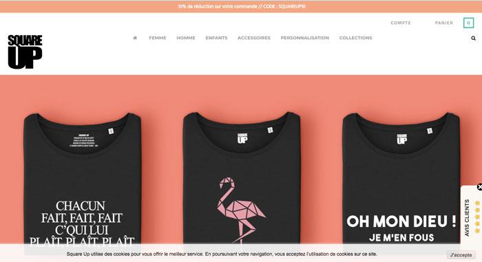 Square up - Tees site web - EOLE Paris