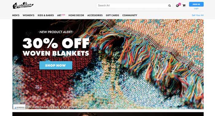 Threadless - site web tshirts - EOLE Paris