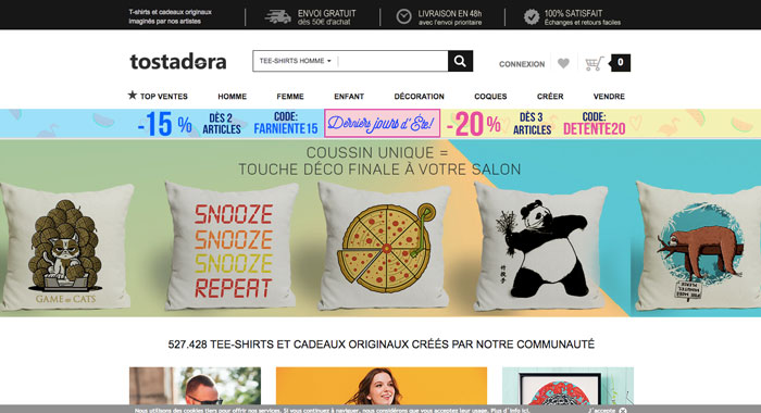 tosatdora - site web tshirts - eole paris