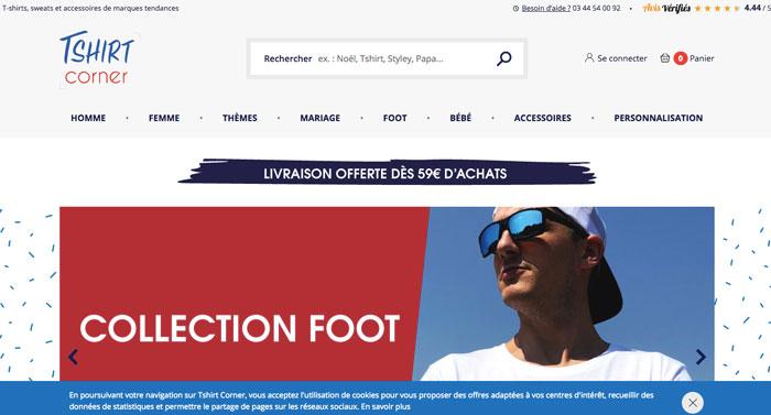 tshirt corner - tshirts site web - eole paris