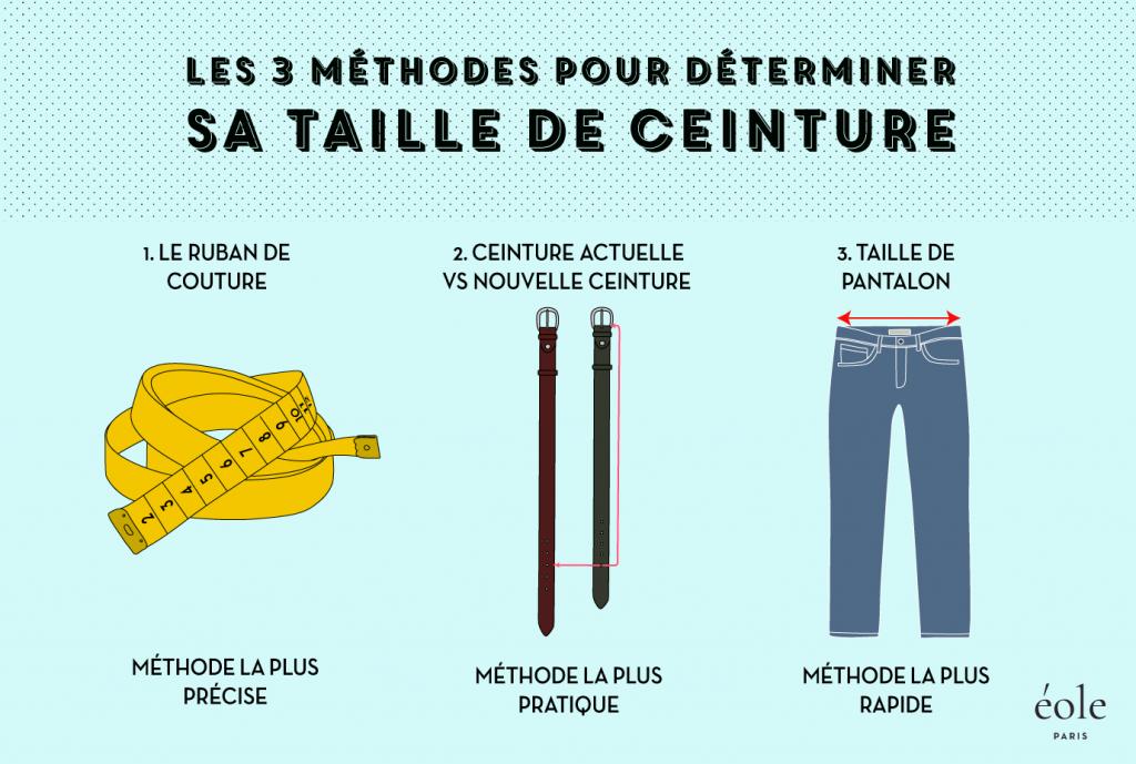 3 methodes pour determiner sa taille de ceinture - EOLE Paris