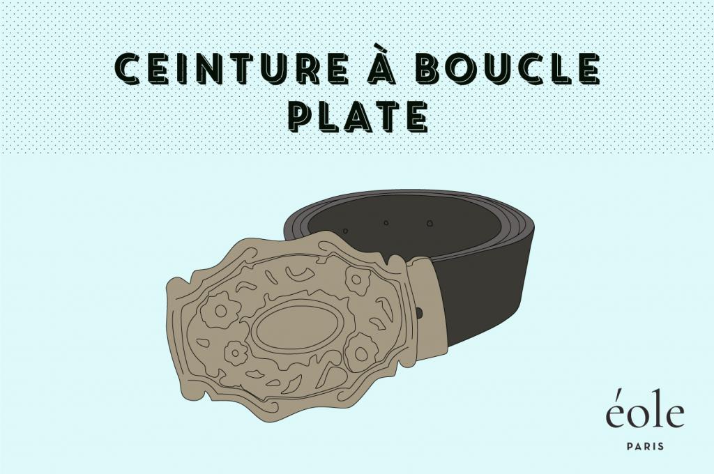 Ceinture a boucle plate - EOLE Paris 1