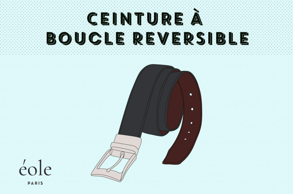 Ceinture a boucle reversible - EOLE Paris