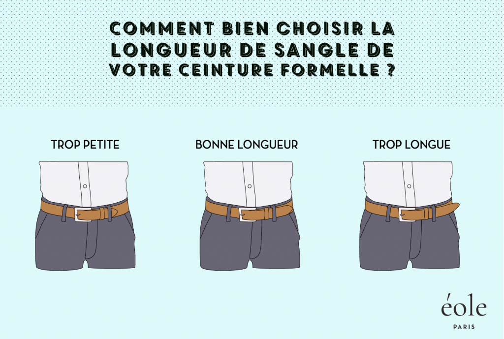 Comment bien choisir la longueur de sangle de votre ceinture formelle - EOLE Paris
