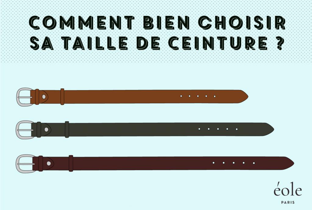 Comment bien choisir sa taille de ceinture - EOLE paris