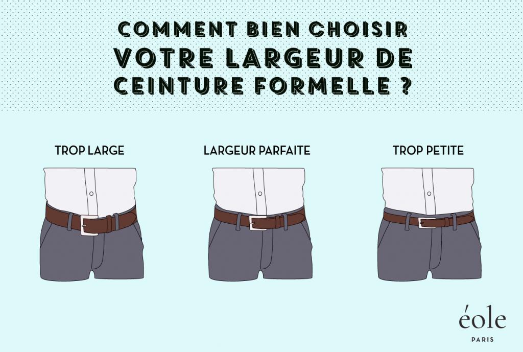 Comment choisir la largeur de votre ceinture formelle - EOLE Paris