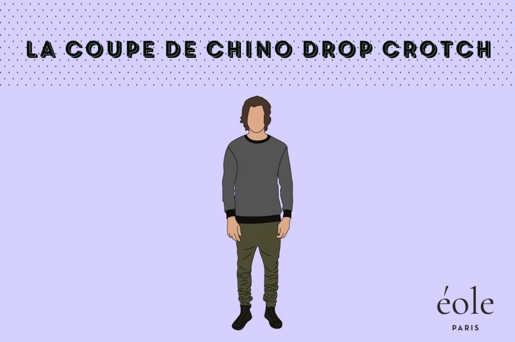 Coupe de chino drop crotch - EOLE Paris