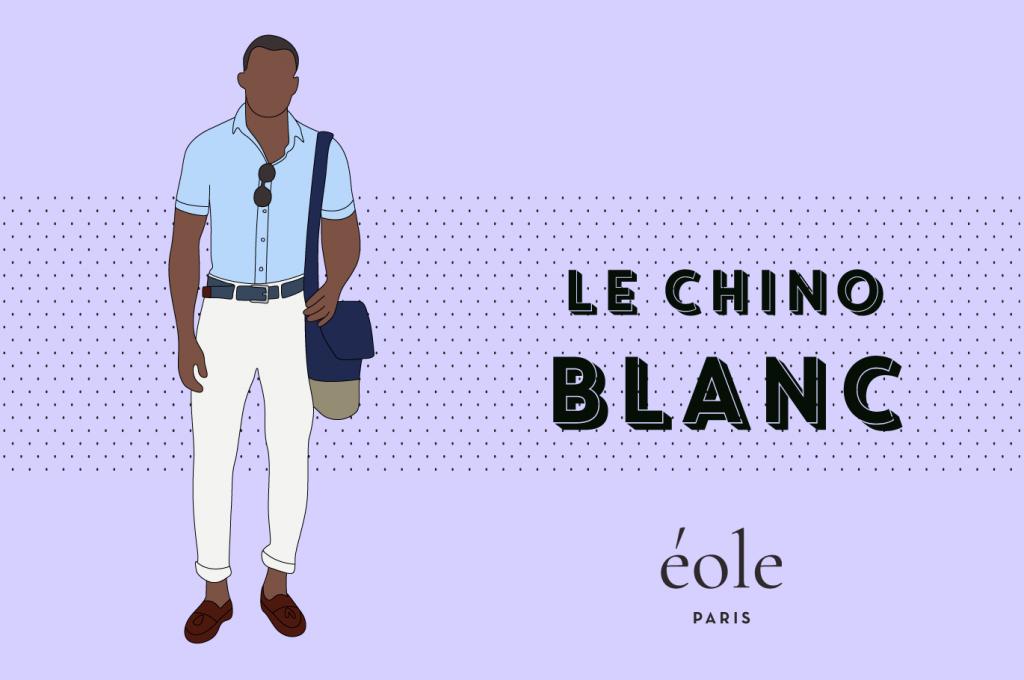 Le chino blanc - EOLE PARIS