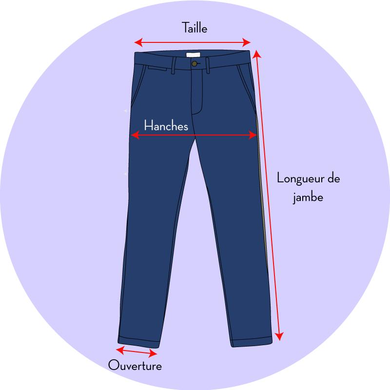 Les tailles de chino - EOLE PARIS 3