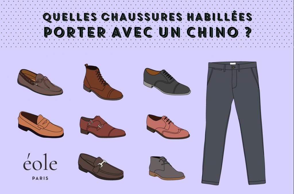 Quelles chaussures porter avec un chino - EOLE PARIS 4