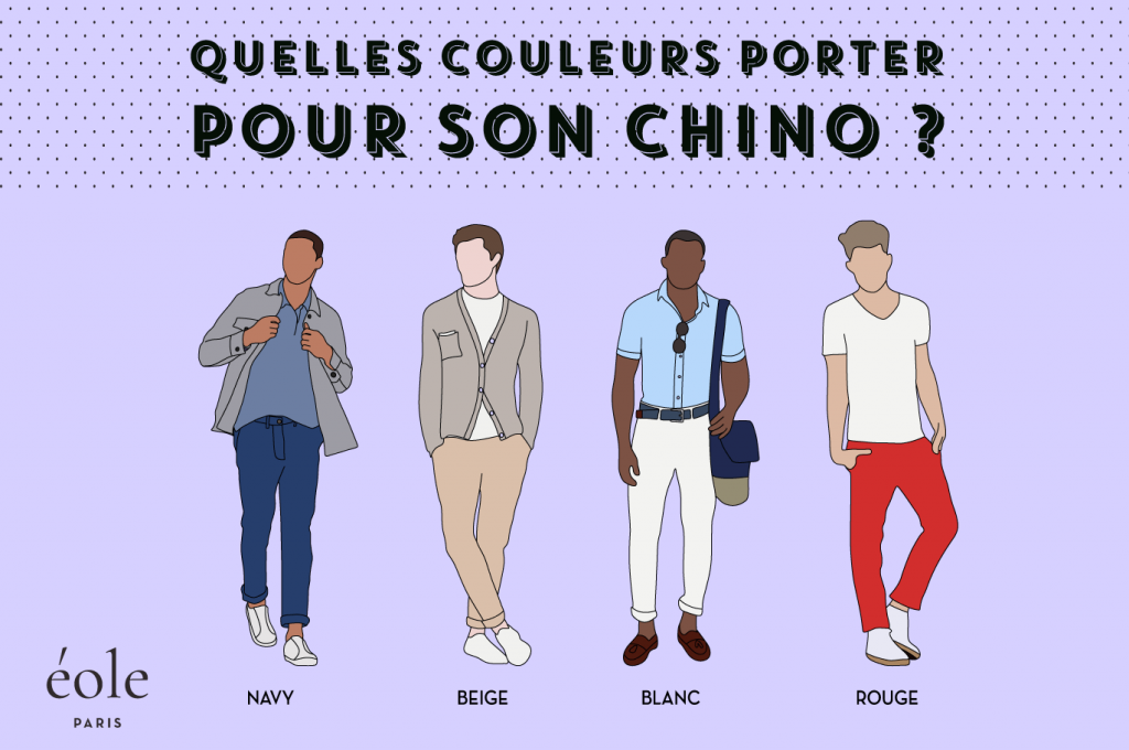 Quelles couleurs choisir pour votre chino - EOLE PARIS