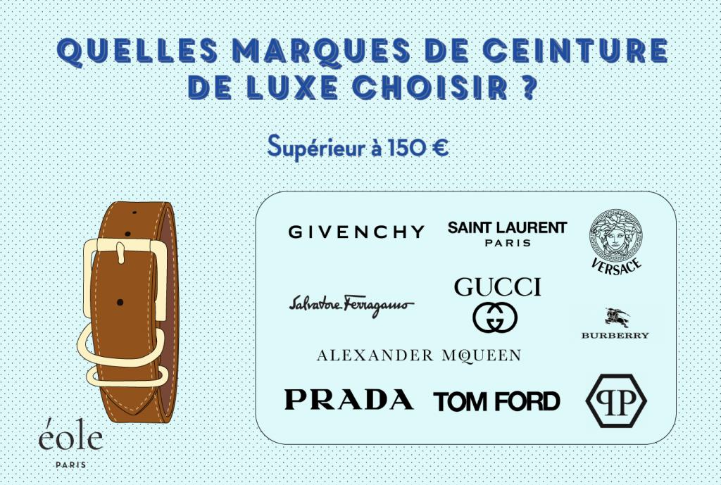 Quelles marques de ceinture de luxe choisir - EOLE Paris