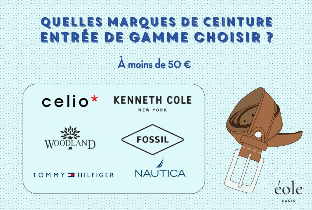 Quelles marques de ceinture entree de gamme choisir - EOLE Paris