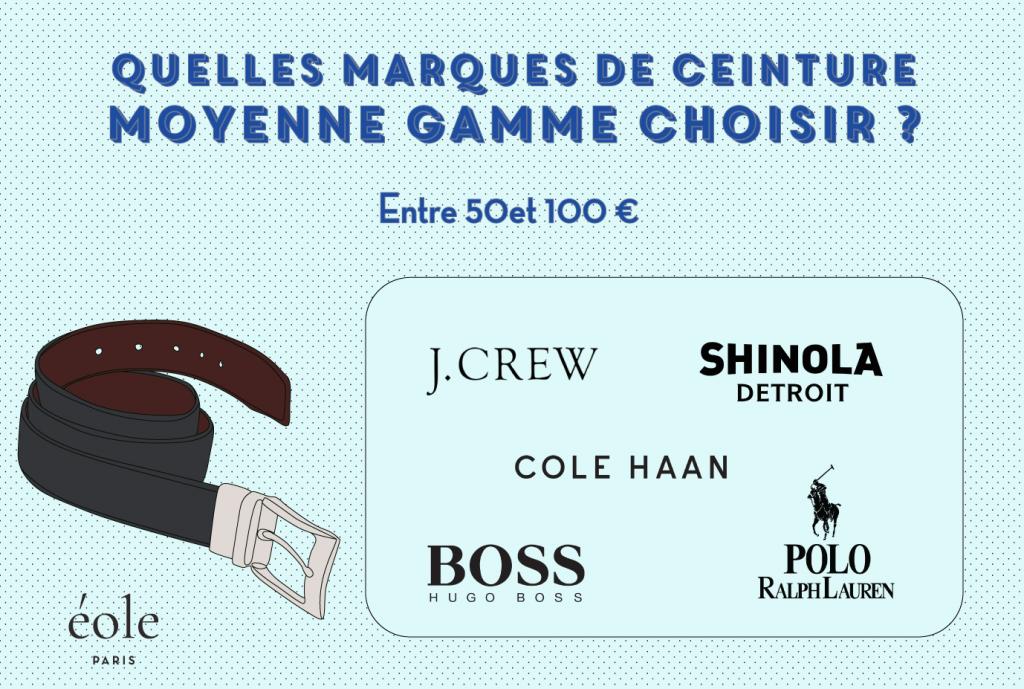 Quelles marques de ceinture moyenne de gamme choisir - EOLE Paris