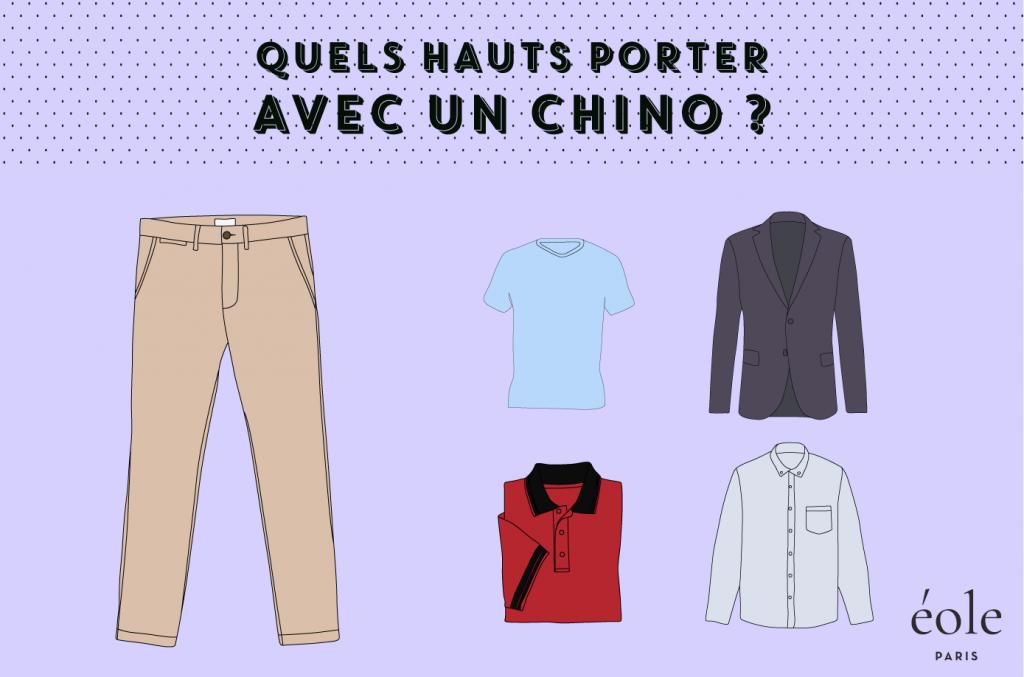Quels hauts porter avec un chino - EOLE PARIS
