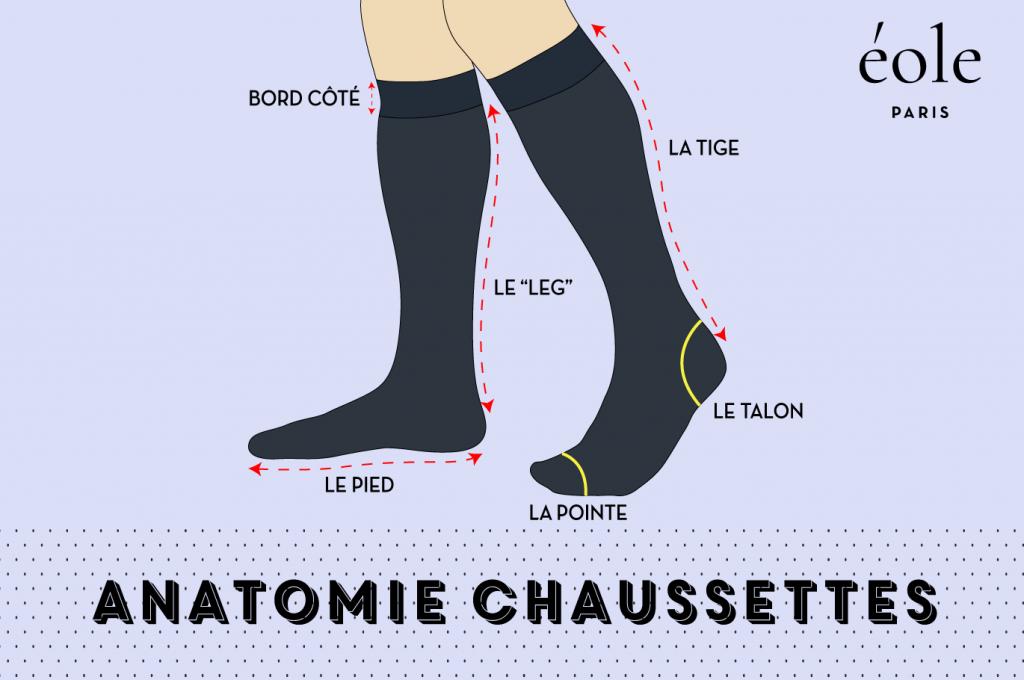 Anatomie chaussettes - EOLE PARIS