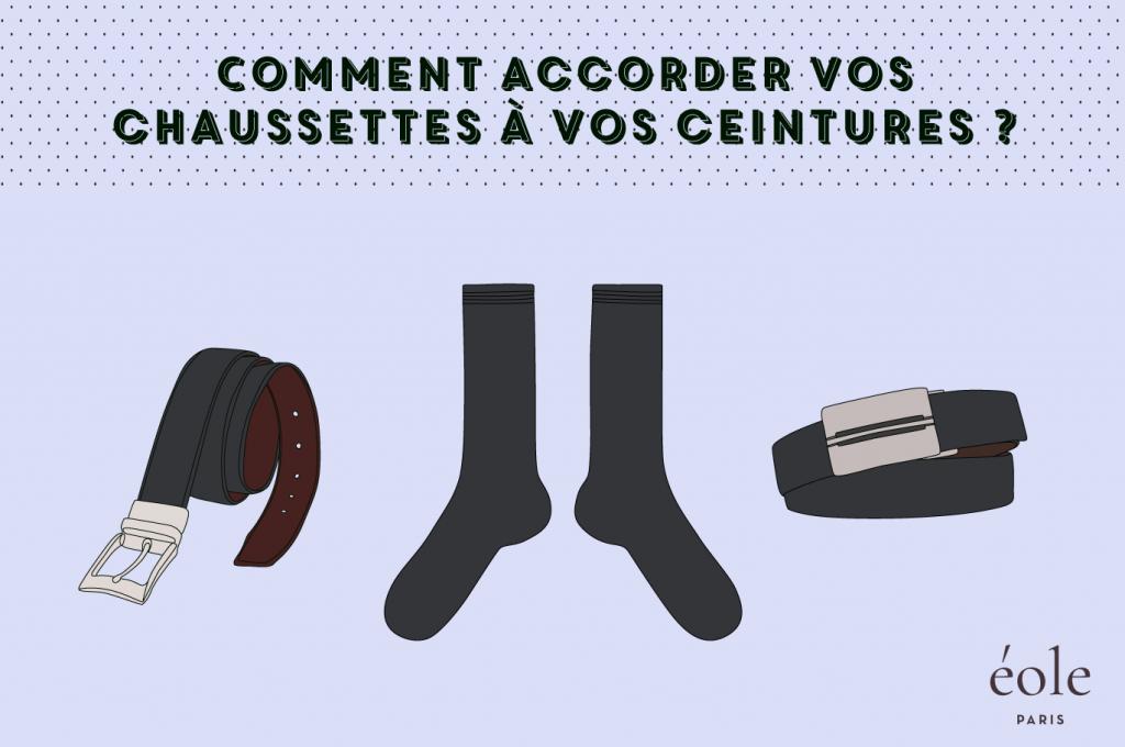Comment accorder vos chaussettes avec vos ceintures ? EOLE PARIS