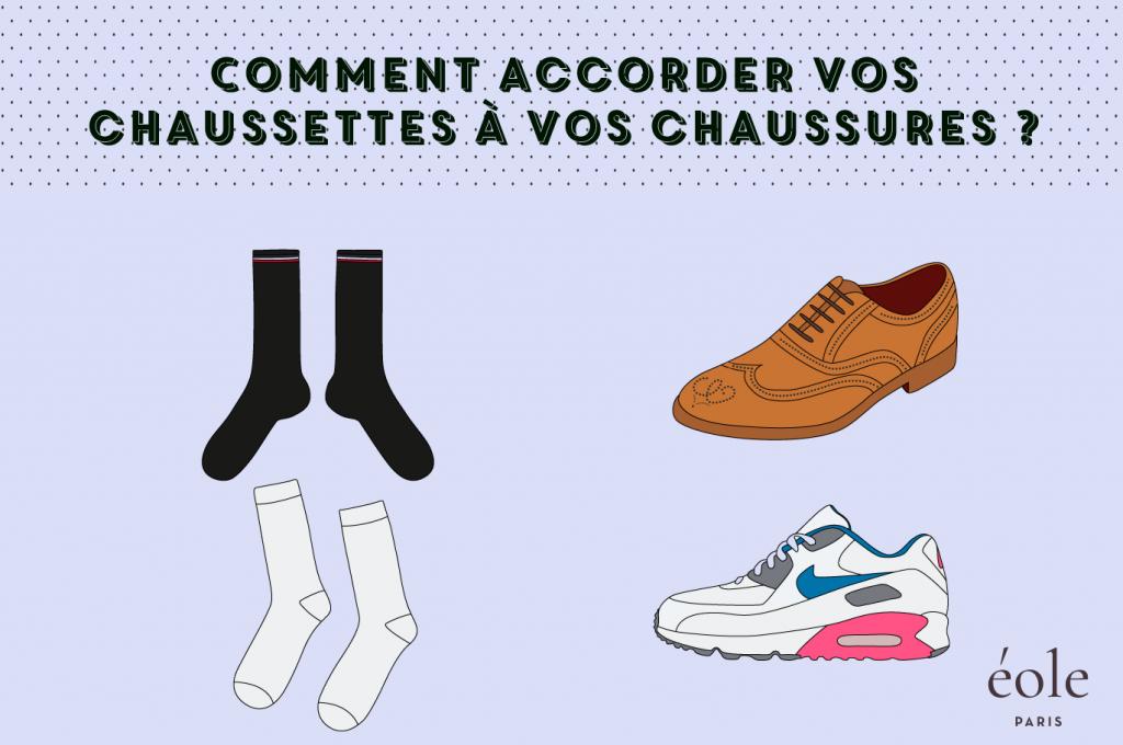 Comment accorder vos chaussettes avec vos chaussures ? EOLE PARIS