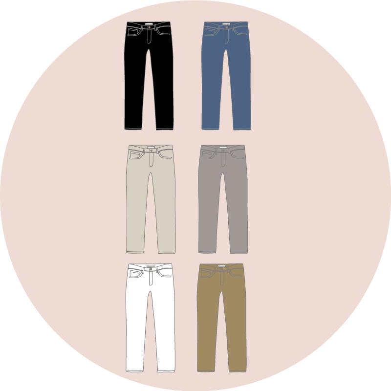 couleurs pantalons -eole paris