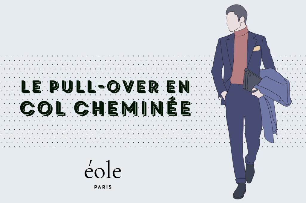 Le pull over en col cheminée - EOLE PARIS