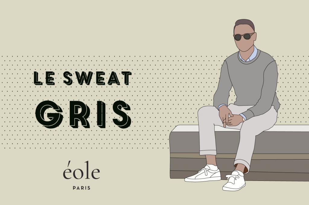 Le sweat GRIS - EOLE PARIS