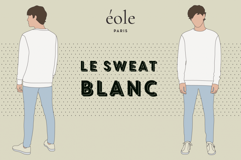 Le sweat BLANC - EOLE PARIS