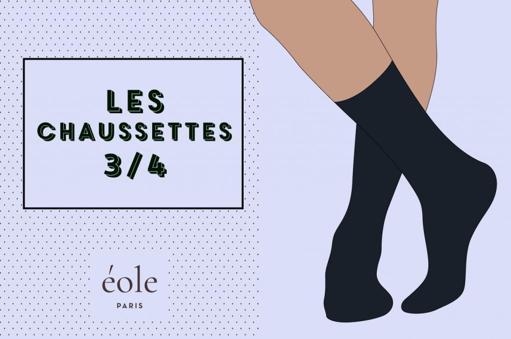Les chaussettes 3/4 - EOLE PARIS