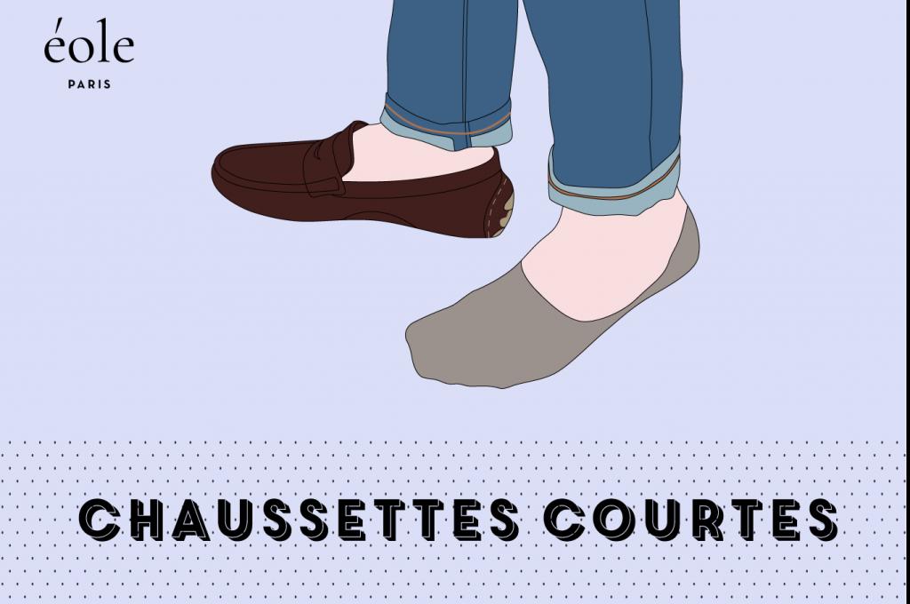 Les chaussettes courtes - EOLE PARIS