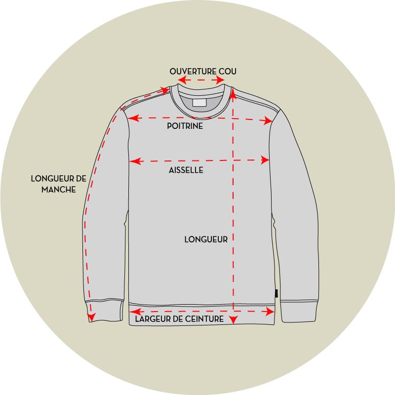 Les tailles sweatshirts - EOLE PARIS