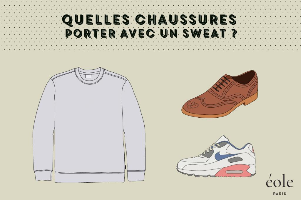 Quelles chaussures porter avec un sweatshirt - EOLE PARIS