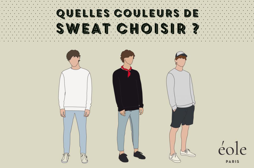 Quelles couleurs de sweat choisir - EOLE PARIS