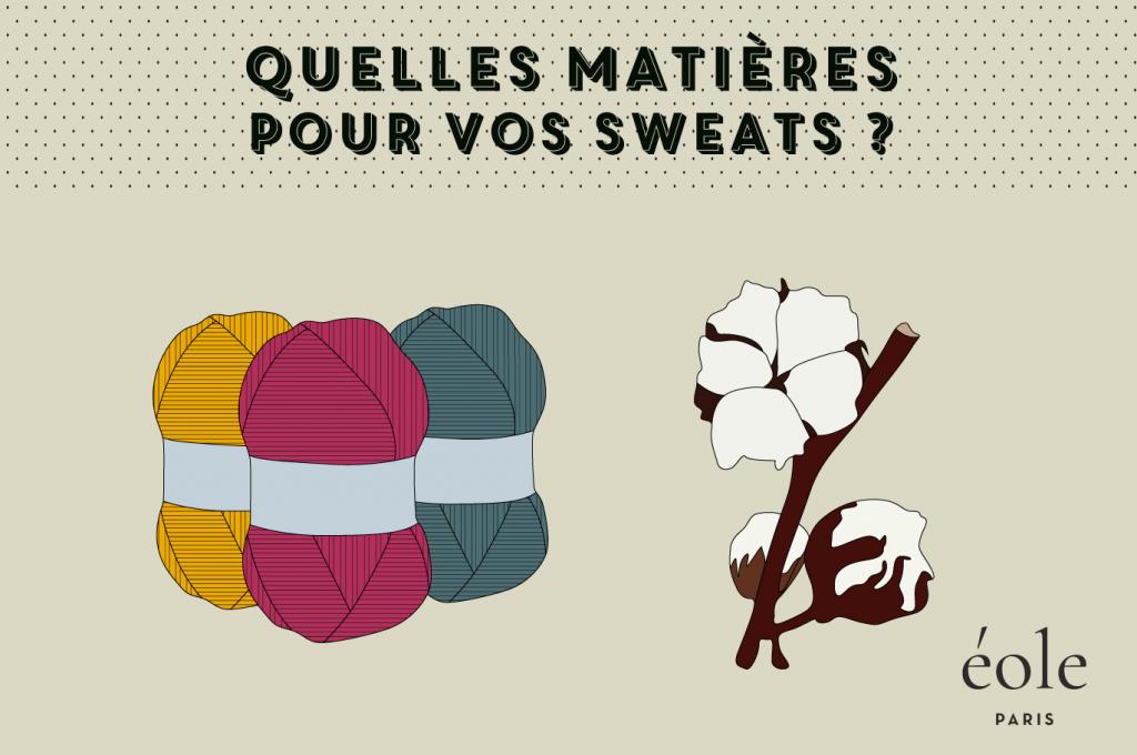 Quelles matieres pour vos sweats - EOLE PARIS