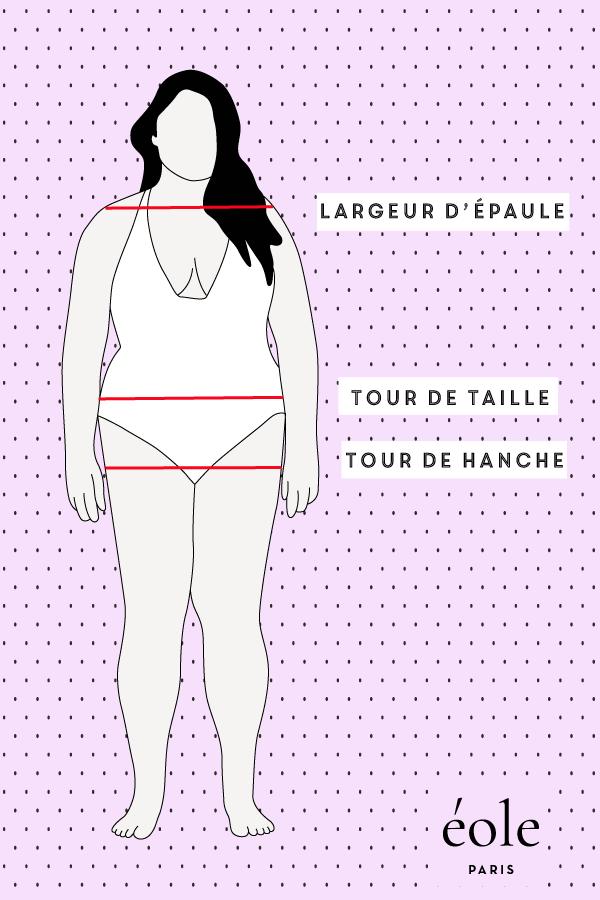 Morphologie femme tour de taille - EOLE PARIS
