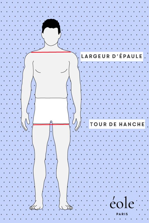 epaule et hanche - morphologie homme - EOLE PARIS