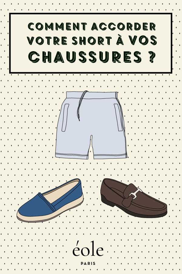 Comment accorder vos chaussures avec votre short ? EOLE PARIS