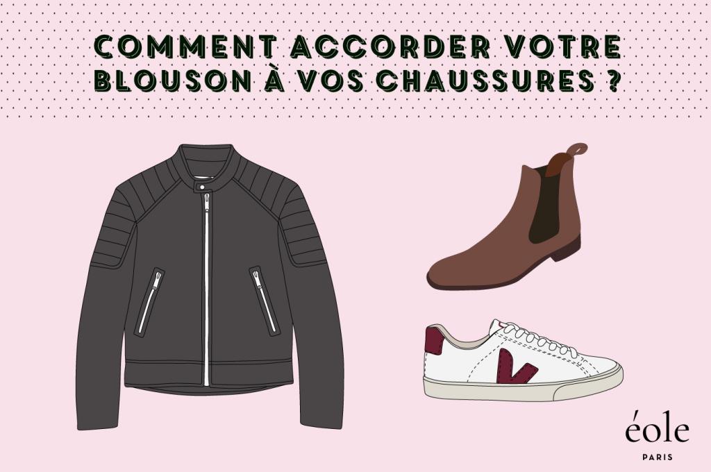 Comment accorder votre blousons à vos chaussures ? EOLE PARIS