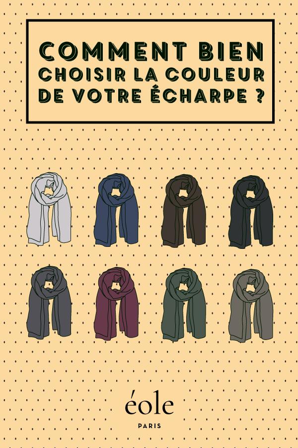 Comment bien choisir la couleur de votre écharpe ? EOLE PARIS