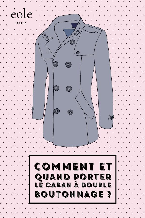 Comment et quand porter le caban double boutonnage ? EOLE PARIS