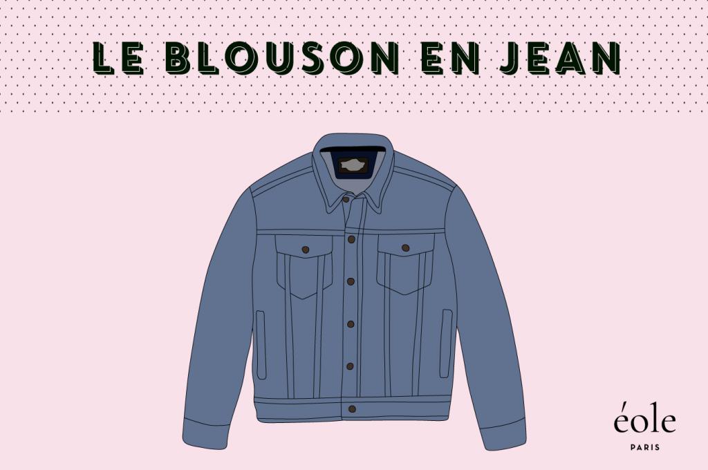 Le blouson en JEan - EOLE PARIS