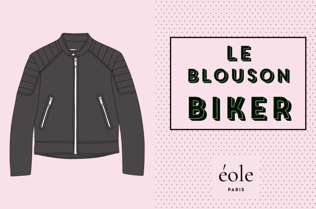 Le blouson biker - EOLE PARIS
