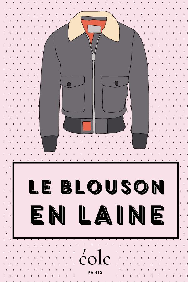 Le blouson en laine - EOLE PARIS