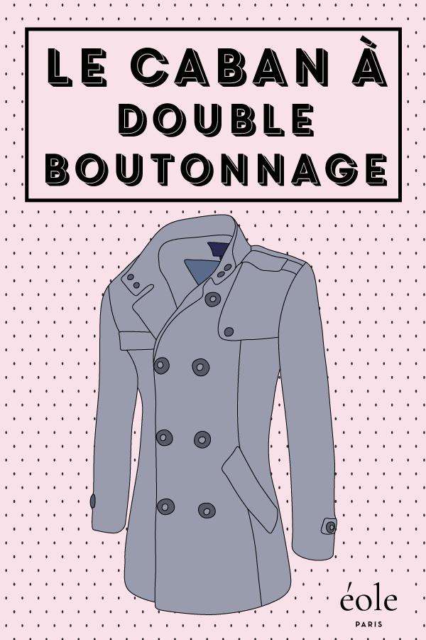 Le caban double boutonnage - EOLE PARIS