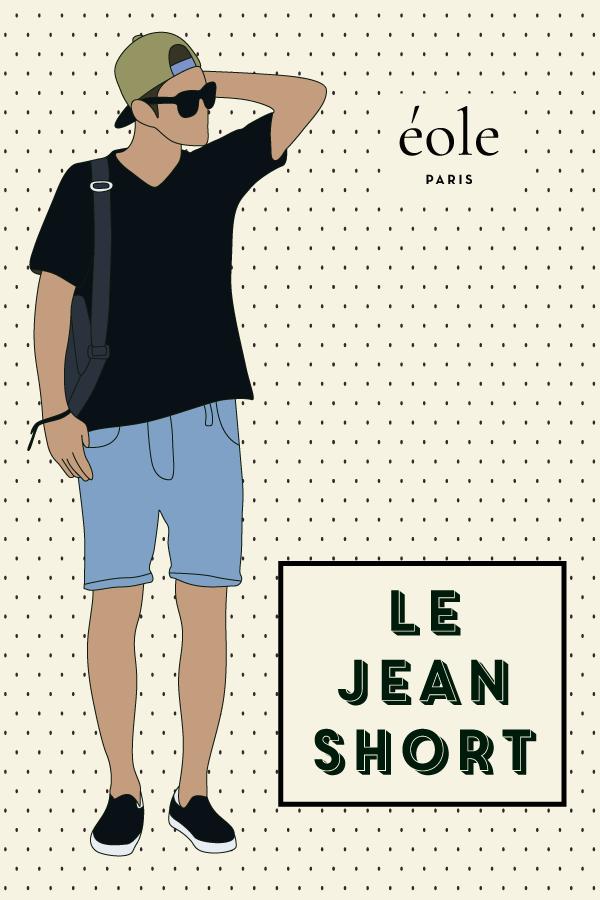 Le jean short - EOLE PARIS