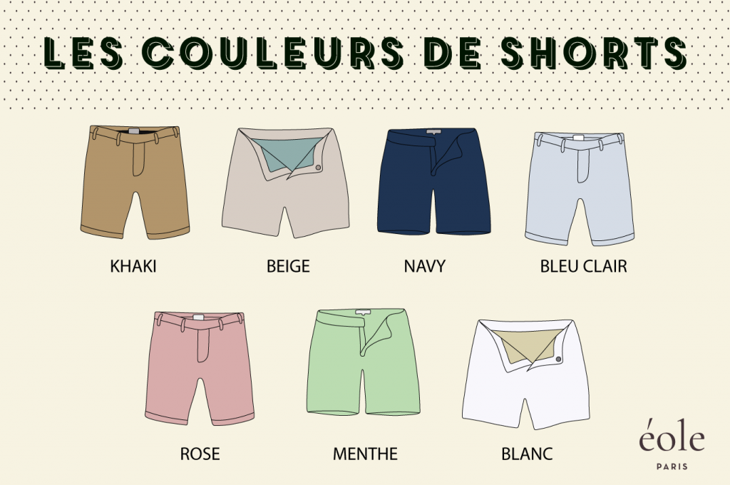 Les couleurs de short - ÉOLE PARIS