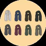 Les couleurs d'écharpes - EOLE PARIS